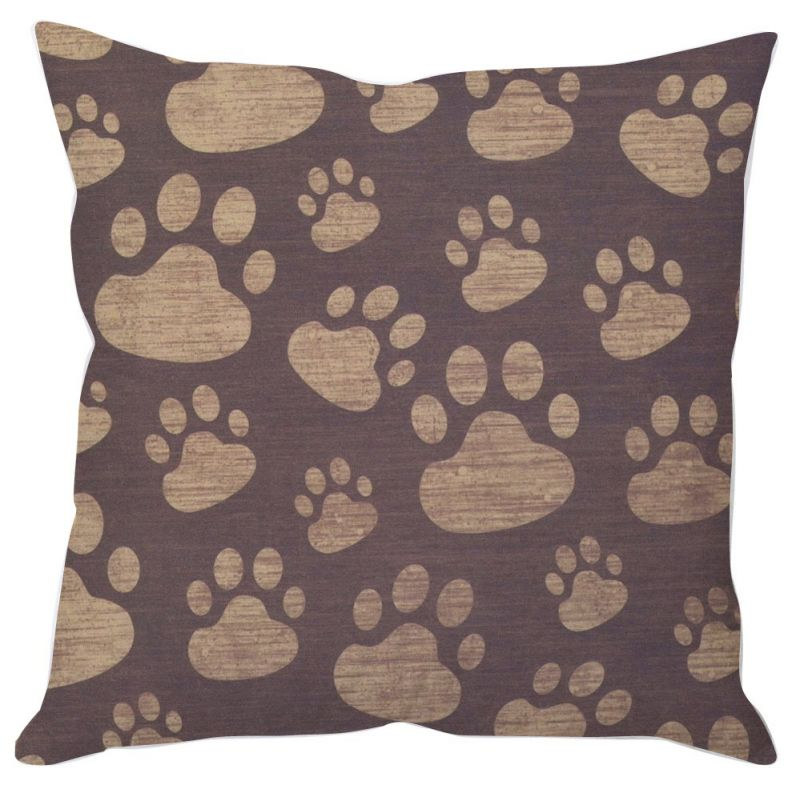 Buy Cute Paw Prints Cushion Cover online