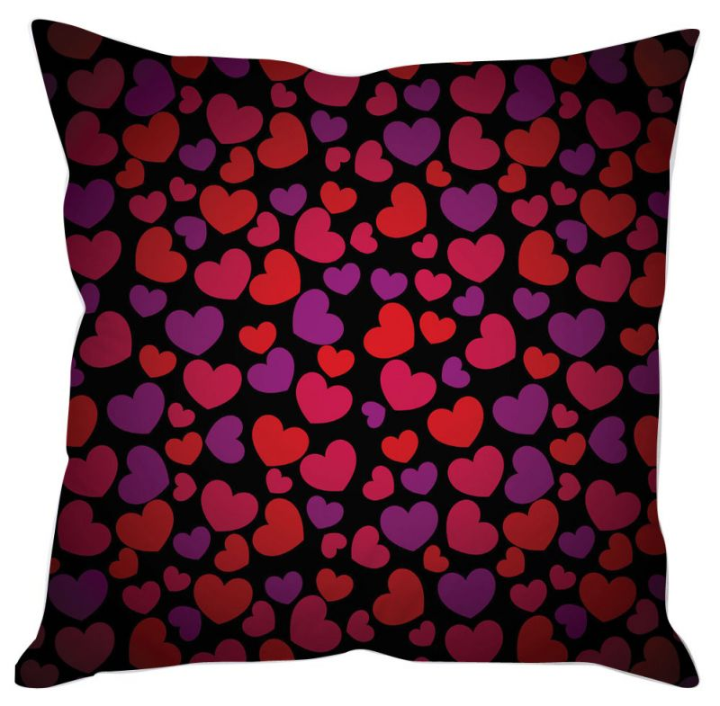Buy Cute Heart Print Cushion Cover online