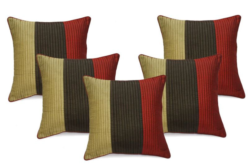 Buy Stybuzz Multicolor Embroidered Cushion Covers - Set Of 5 online