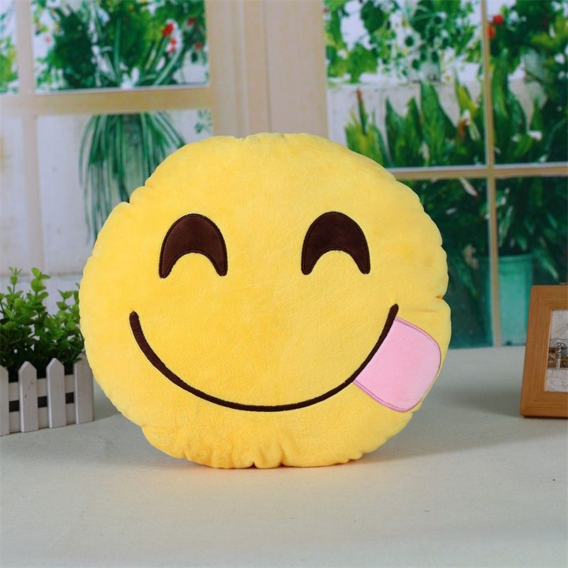 Buy Stybuzz Yummy Emoji Cushion online