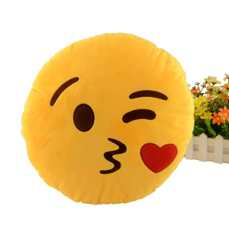 Buy Stybuzz Kiss Emoji Cushion online