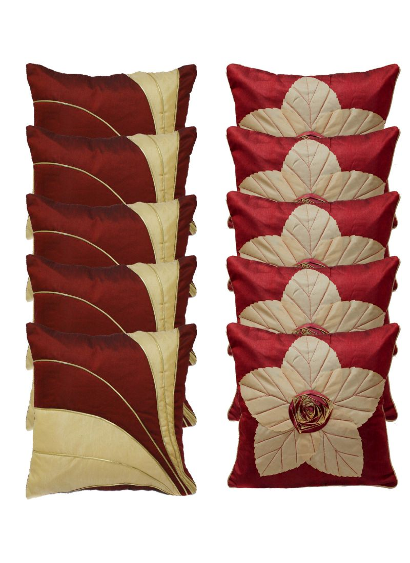 Buy Stybuzz Embroidery Cushion Cover Set of 10 online