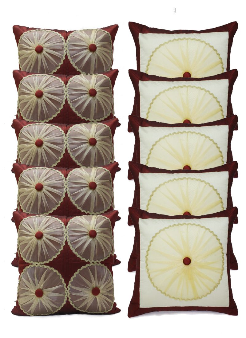 Buy Stybuzz Embroidery Cushion Cover Set Of 10 - Scten00015 online
