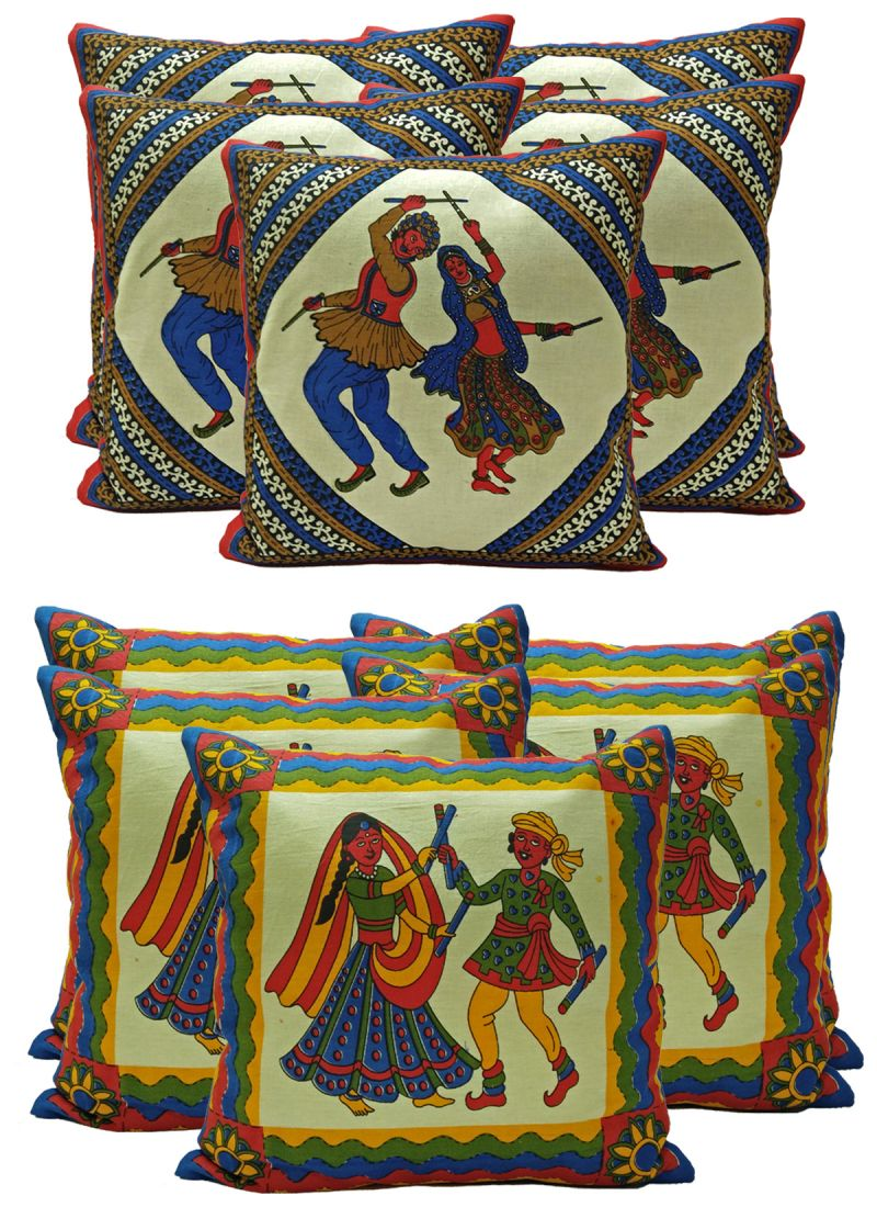 Buy Stybuzz Ethenic Cotton Cushion Cover Set Of 10 - Scten00033 online