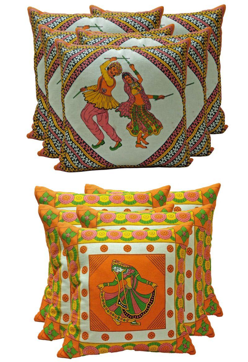 Buy Stybuzz Ethenic Cotton Cushion Cover Set Of 10 - Scten00045 online