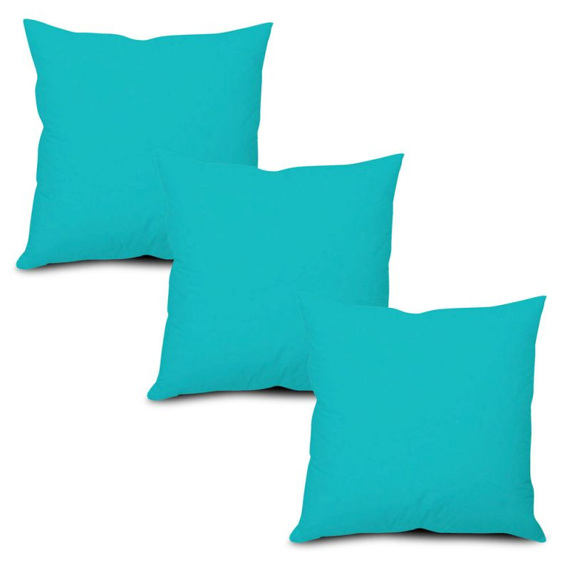 Buy Stybuzz Blue Solid Cushion Cover - Set of 3 online