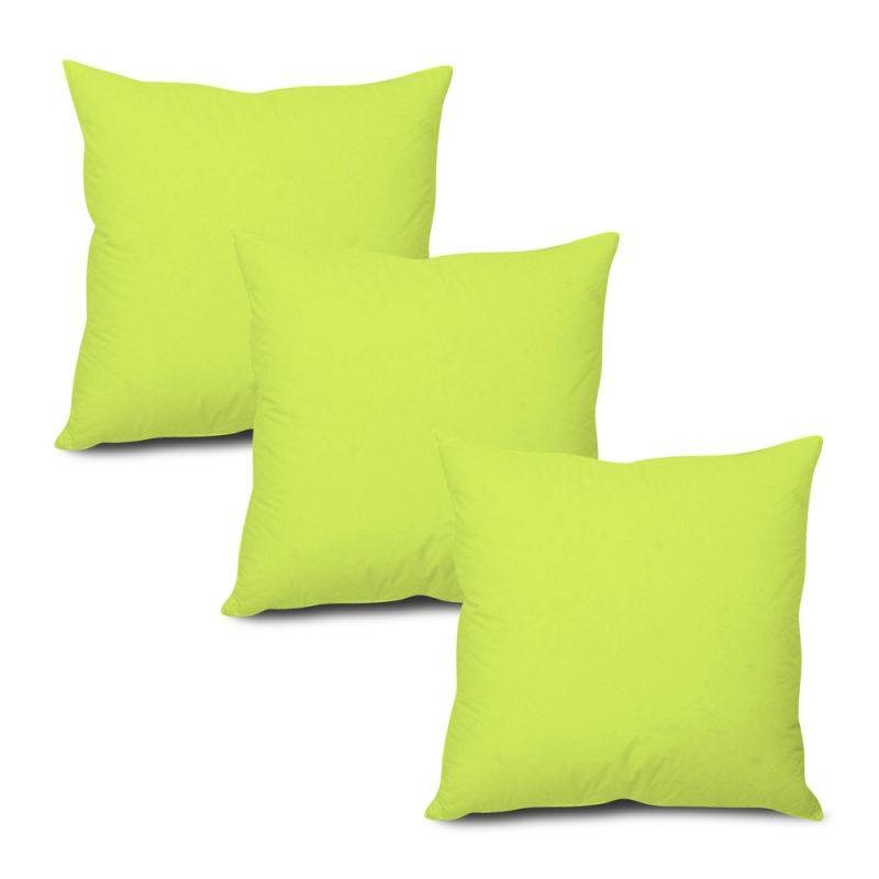 Buy Stybuzz Green Solid Cushion Cover - Set of 3 online