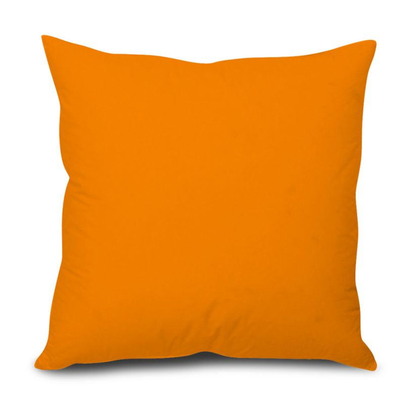 Buy Stybuzz Orange Solid Cushion Cover online