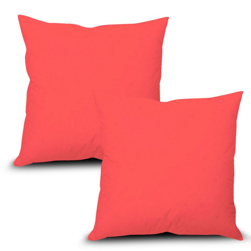 Buy Stybuzz Pink Solid Cushion Cover - Set of 2 online