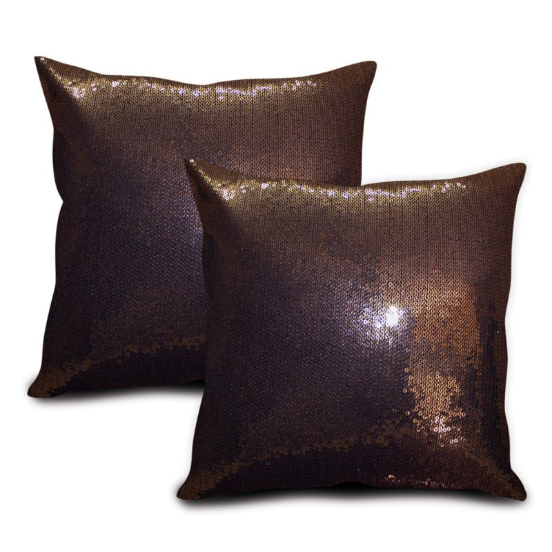 Buy Sephora Copper Sequin Cushion Cover - Set Of 2 online