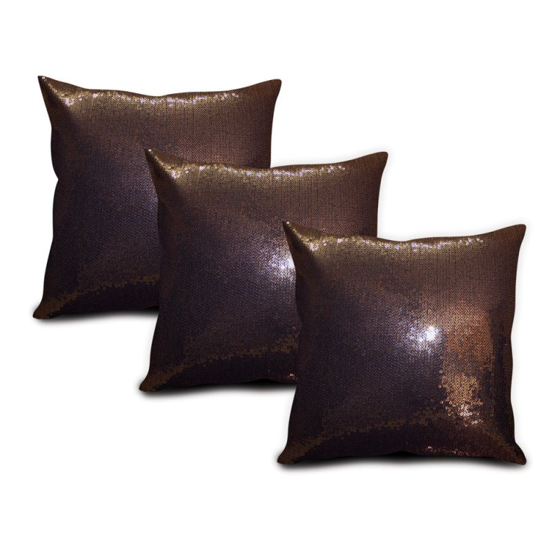 Buy Sephora Copper Sequin Cushion Cover - Set Of 3 online