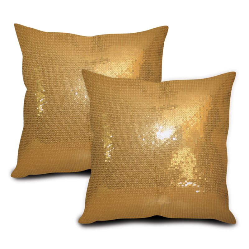 Buy Sephora Golden Sequin Cushion Cover - Set Of 2 online