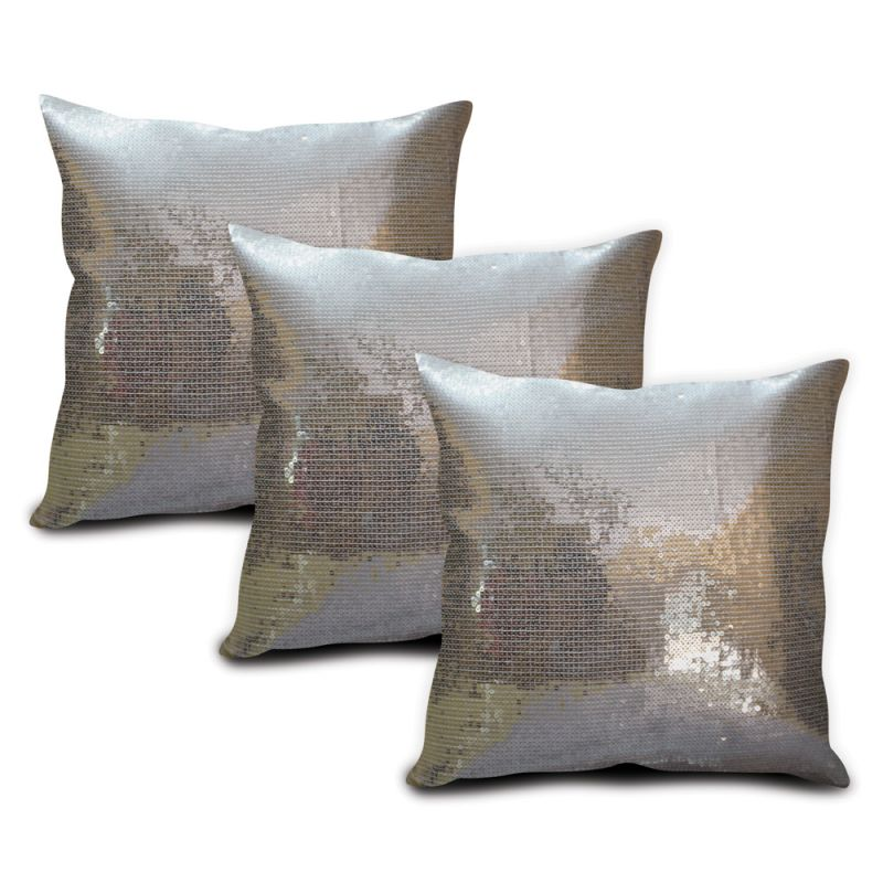 Buy Sephora Silver Sequin Cushion Cover - Set Of 3 online