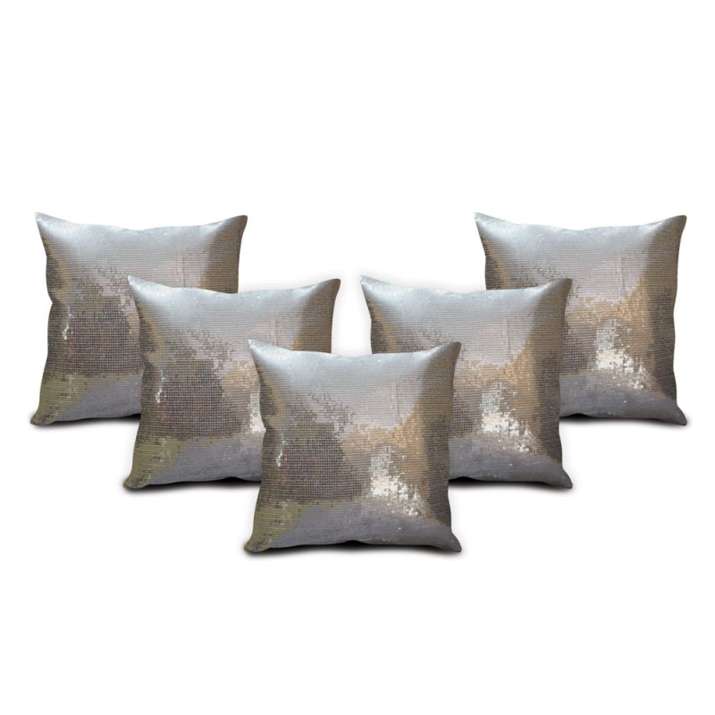 Buy Sephora Silver Sequin Cushion Cover - Set Of 5 online