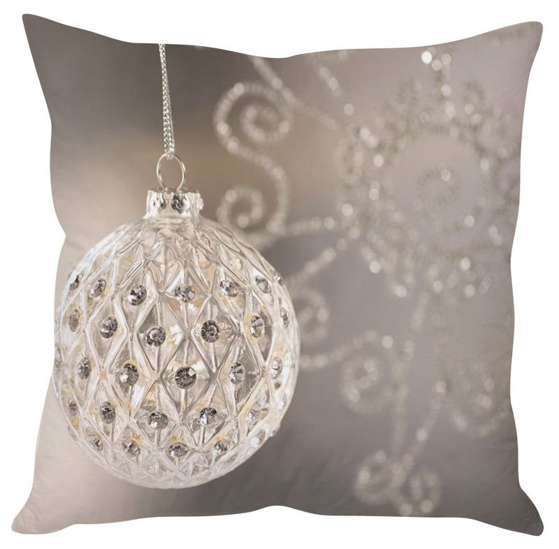 Buy Stybuzz Crystal Christmas Ball Cushion Cover online