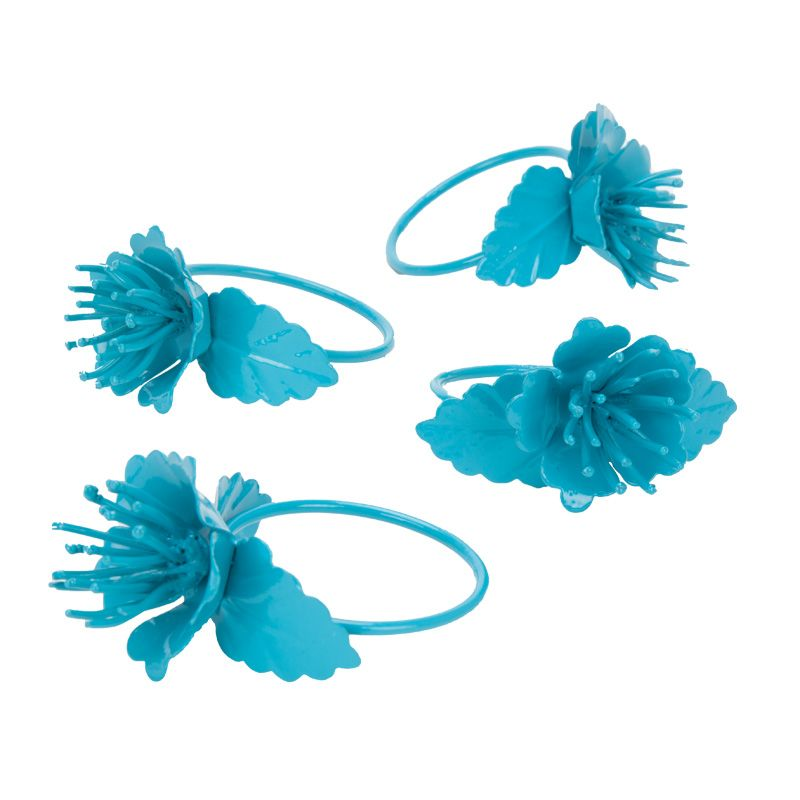 Buy Fabulloso Blooming Napkin Ring Set Blue online