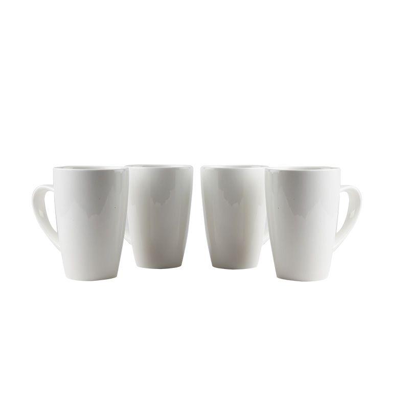 Buy Fabulloso Ceramic Maxi White Mug Set Of 4 online