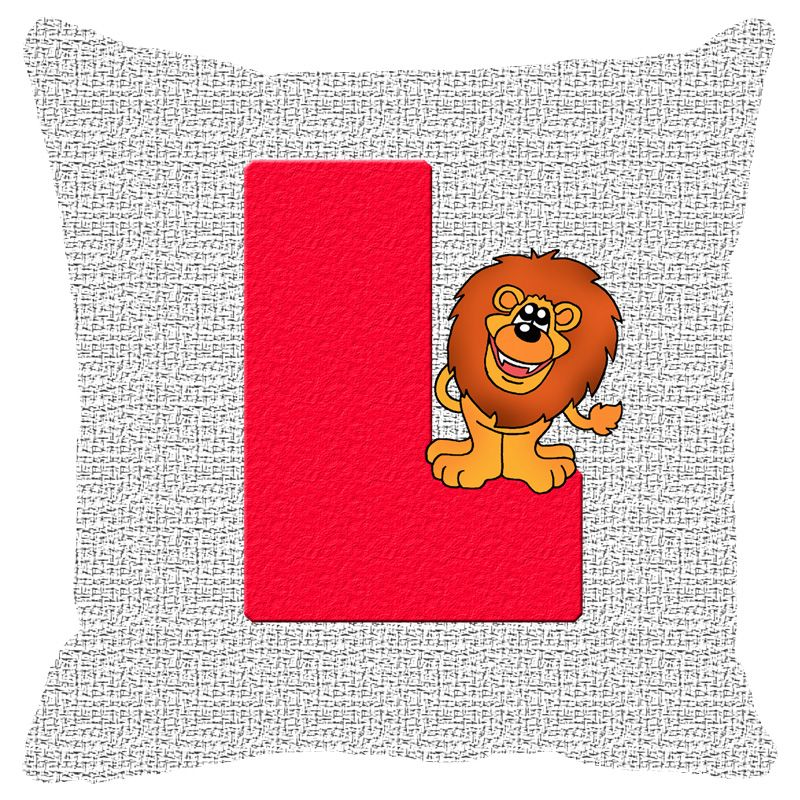 Buy Fabulloso Leaf Designs Alphabet Cushion Cover L - 16x16 Inches online