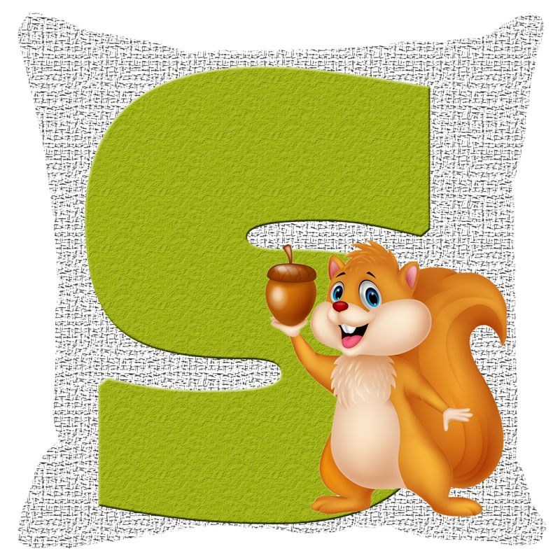Buy Fabulloso Leaf Designs Alphabet Cushion Cover S - 8x8 Inches online