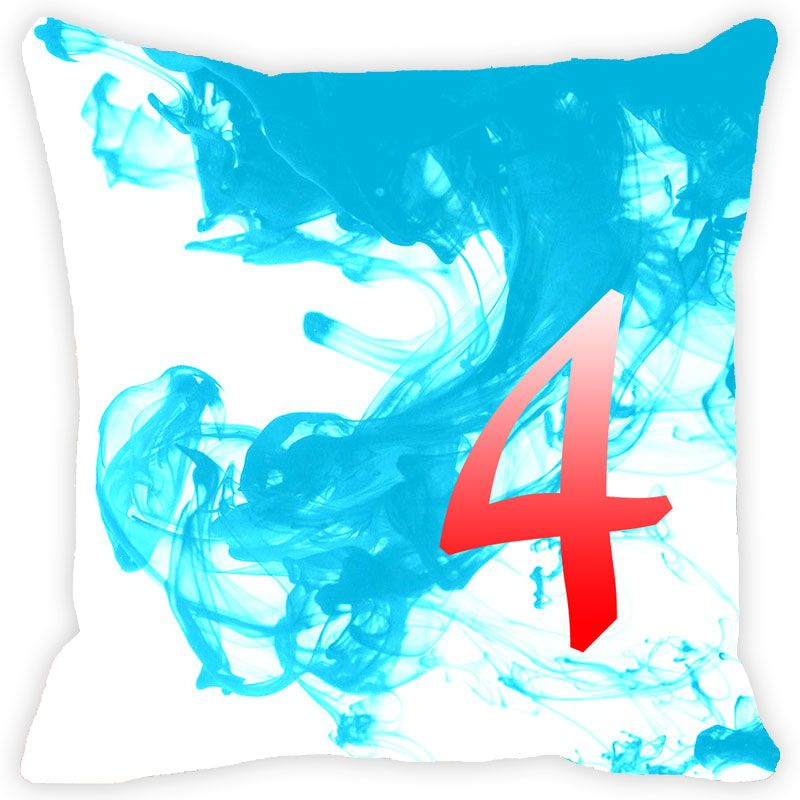 Buy Fabulloso Leaf Designs Numeric Four Cushion Cover - 16x16 Inches online