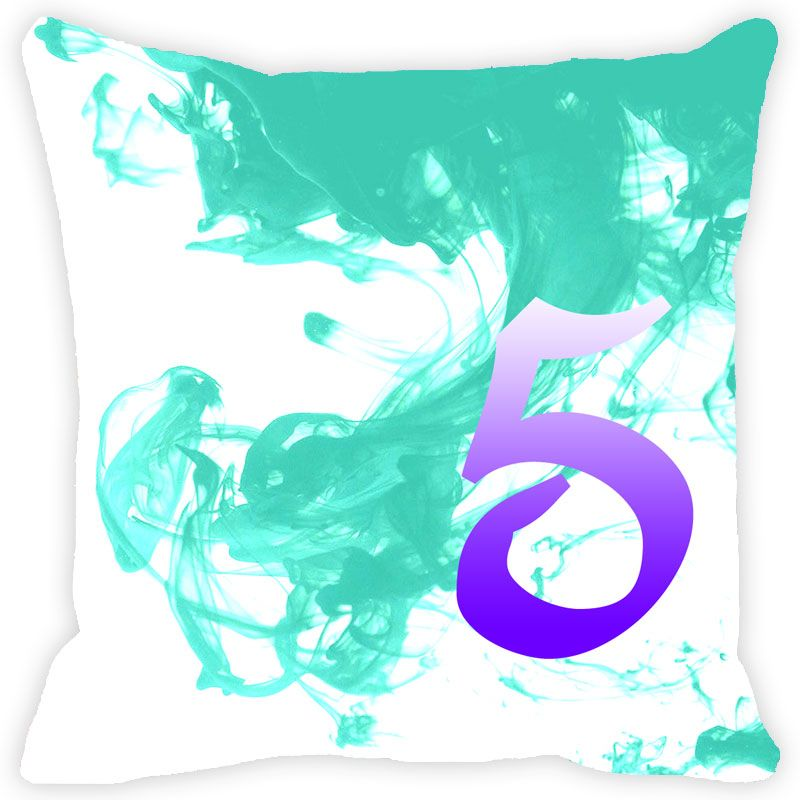 Buy Fabulloso Leaf Designs Numeric Five Cushion Cover - 12x12 Inches online