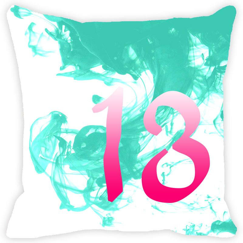 Buy Fabulloso Leaf Designs Numeric Thirteen Cushion Cover - 16x16 Inches online