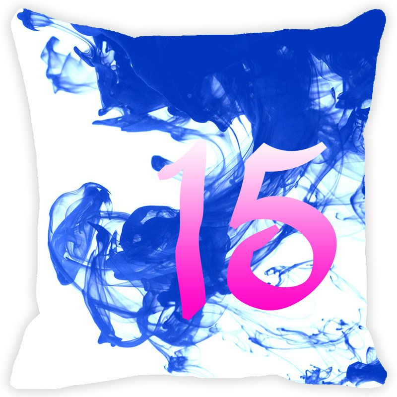 Buy Fabulloso Leaf Designs Numeric Fifteen Cushion Cover - 12x12 Inches online