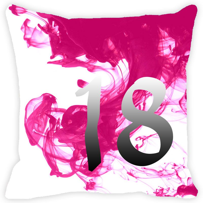 Buy Fabulloso Leaf Designs Numeric Eighteen Cushion Cover - 12x12 Inches online