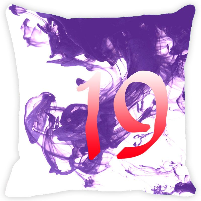 Buy Fabulloso Leaf Designs Numeric Nineteen Cushion Cover - 18x18 Inches online