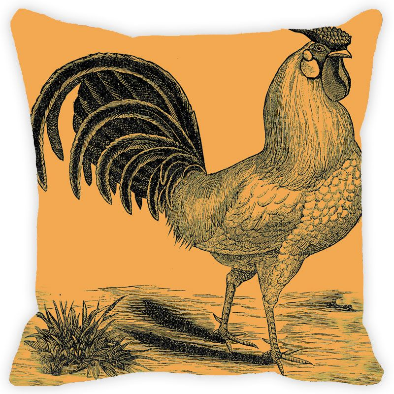 Buy Fabulloso Leaf Designs Golden Rooster Cushion Cover - 8x8 Inches online