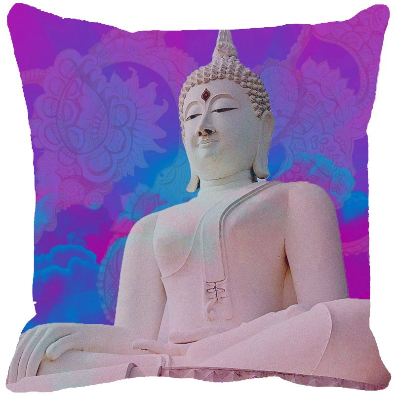Buy Fabulloso Leaf Designs Buddha Pink Cushion Cover - 12x12 Inches online