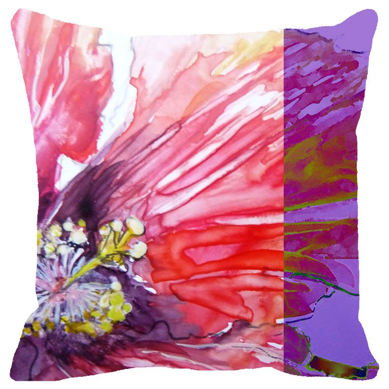Buy Fabulloso Leaf Designs Water Effect Floral Cushion Cover - 12x12 Inches online