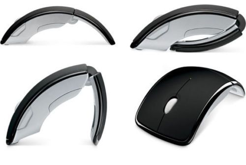 Buy Optical Wireless Arc Mouse 2.4ghz Folding Mouse Wireless With Mini Sensor online