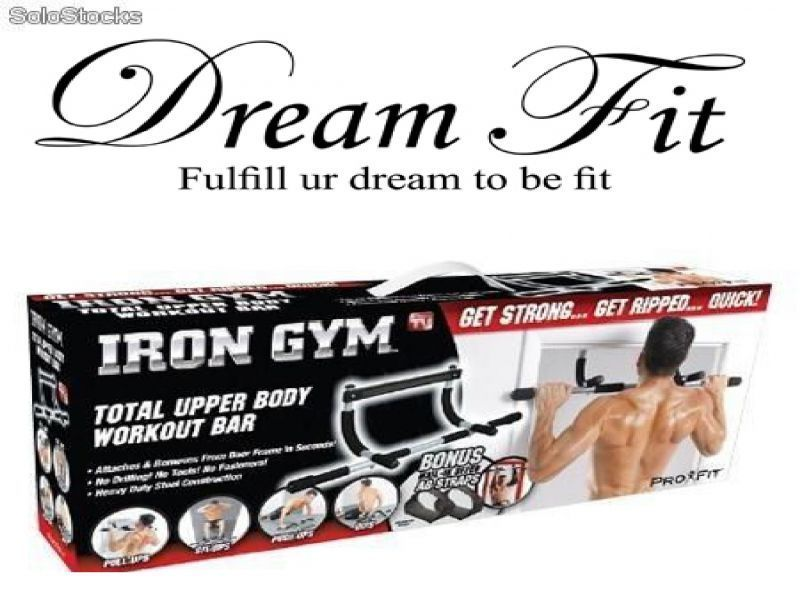 Buy Dreamfit Black Iron Gym Door Chin Up Bar Push Up Bars Dips Sit Ups online