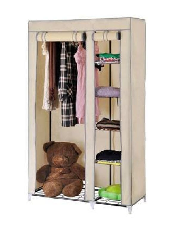 Buy Beige Foldable Wardrobe Cupboard Almirah Best Quality online