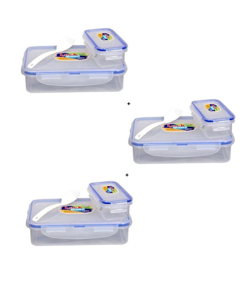 Buy Ski White 800Ml Lock And Seal Lunch Box - Set Of 3 online