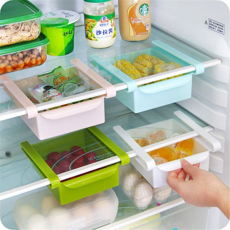 Buy Creative Kitchen Twitch Refrigerator Classification Food Storage Box Rack Drawer Separate Box online