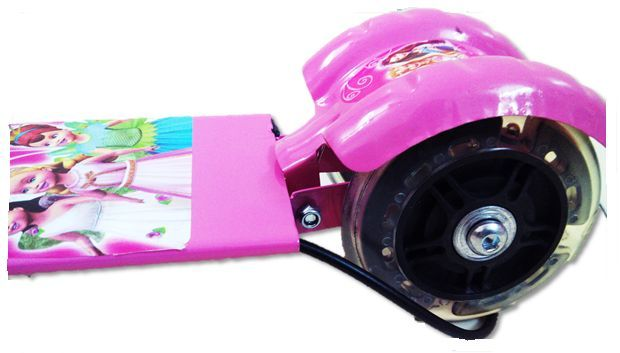 Buy Kids Alloy Foldable 3 Wheel Scooter Pink Only online