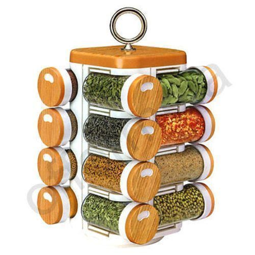 Buy Multipurpose Compact 16 In One Rotating Kitchen Spice Jars online