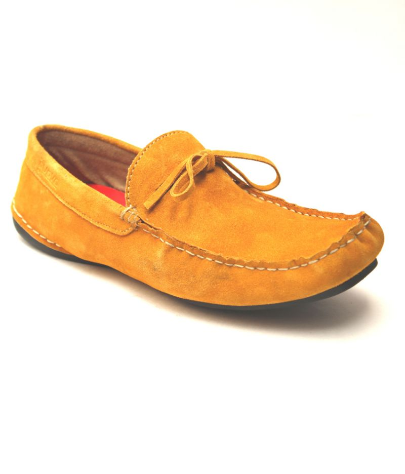 Buy Guava Mustard Leather Loafer online