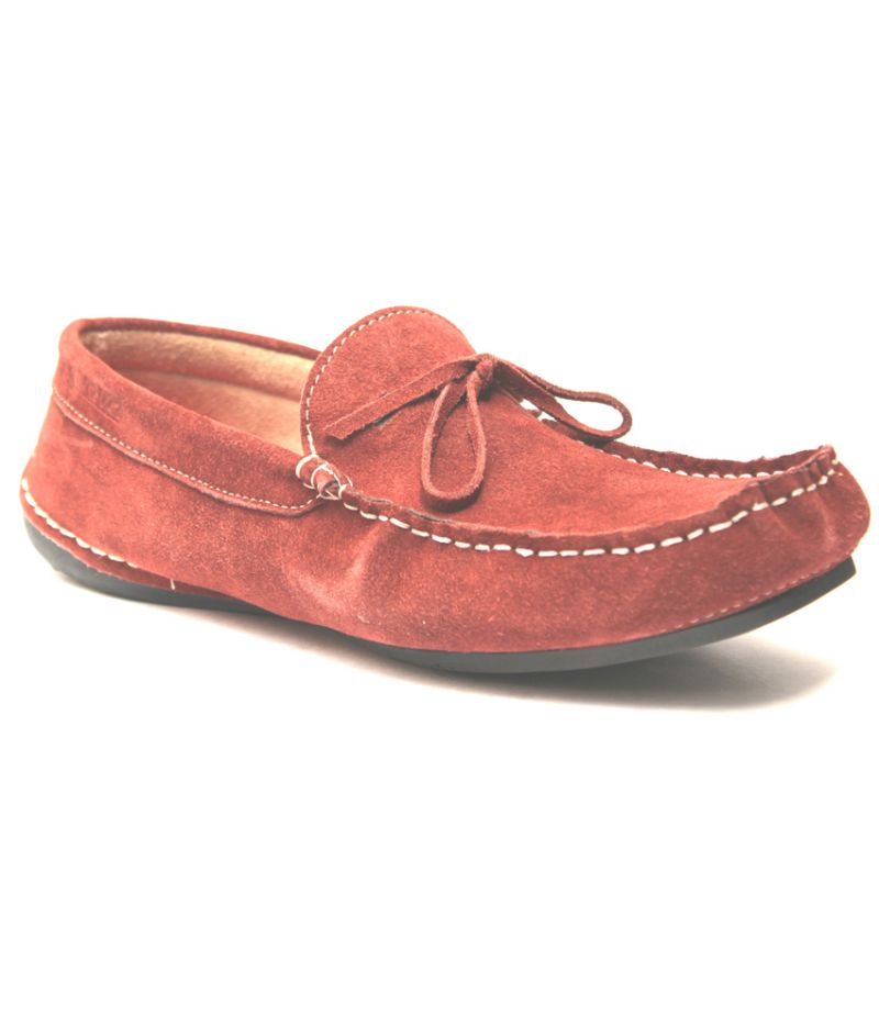 Buy Guava Claret Leather Loafer online