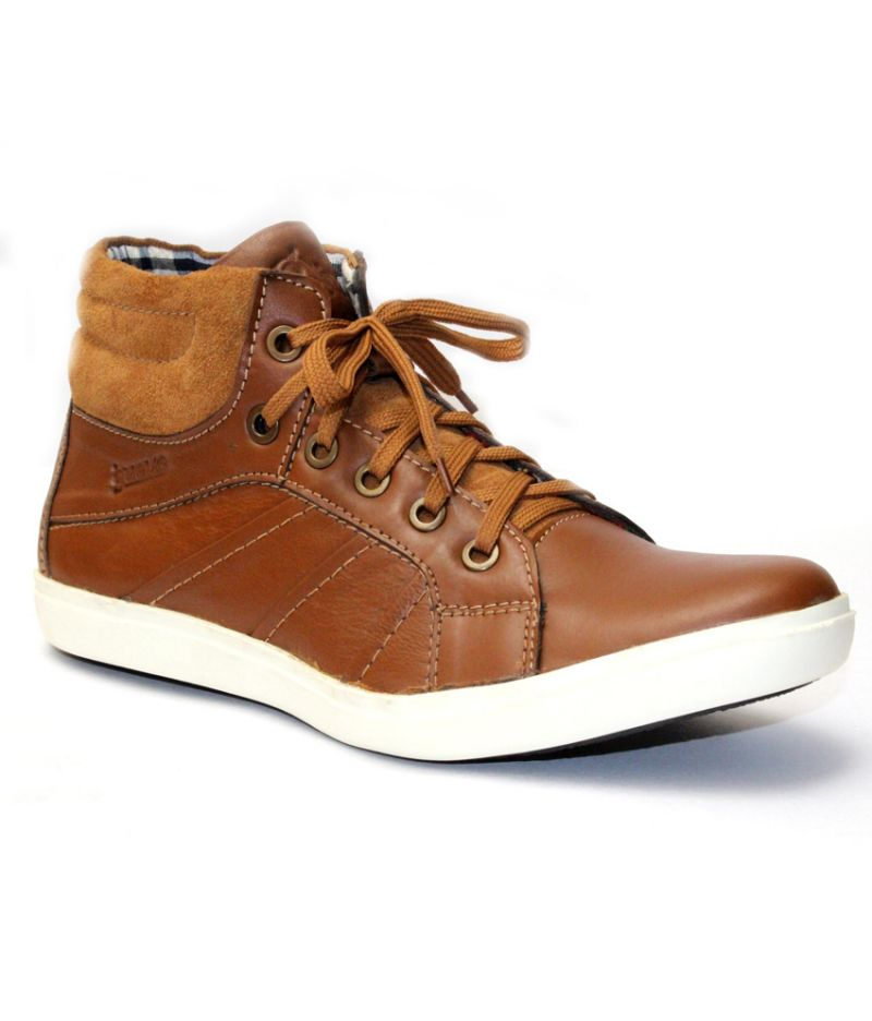 Buy Guava Tan Leather Casual Shoe online