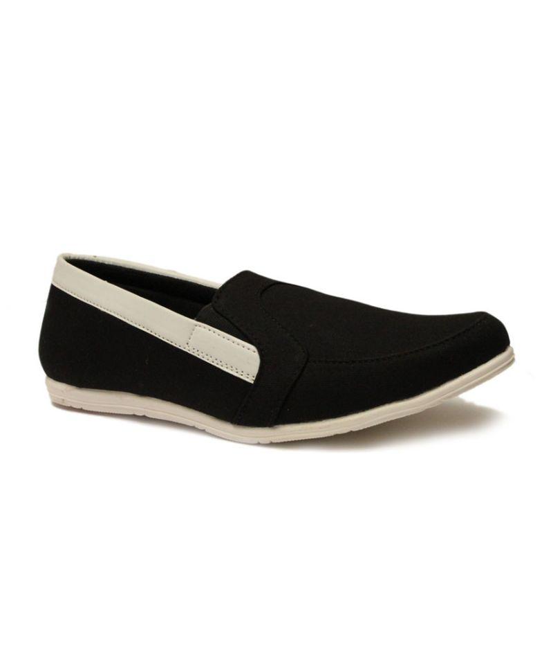 Buy Guava Men Denim Loafers Black online
