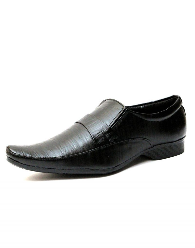Buy Guava Synthetic Leather Textured Black Men