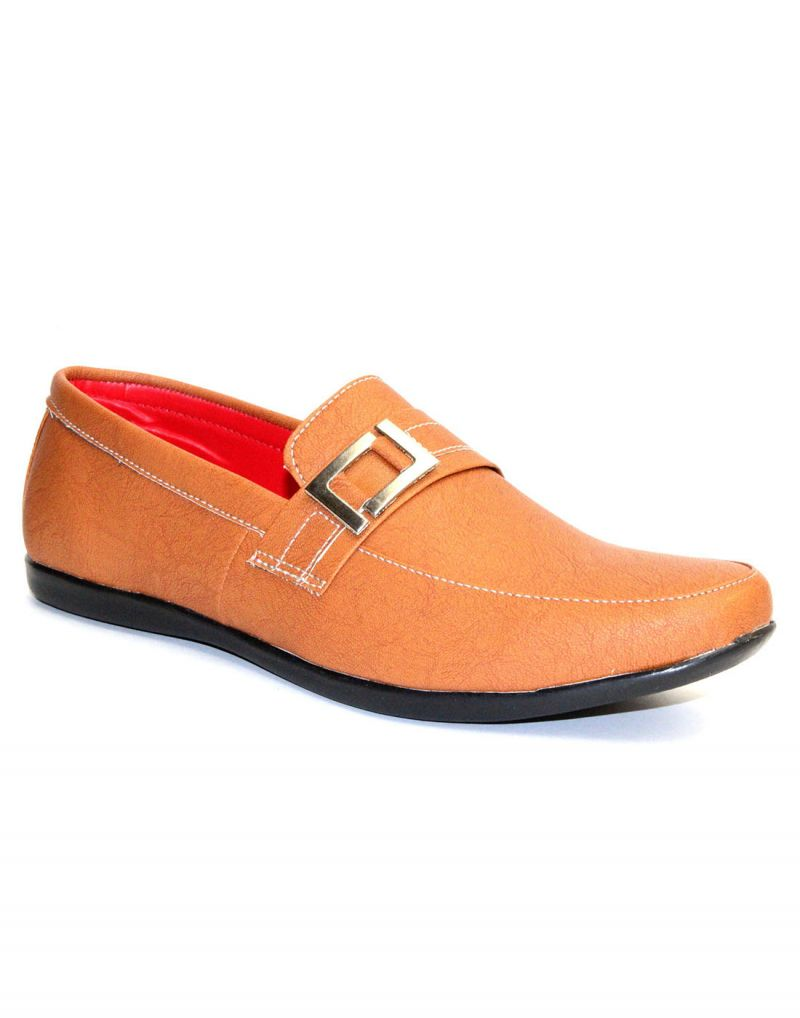 Buy Guava Tan Synthetic Leather Men
