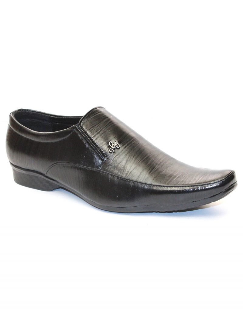 Buy Guava Black Synthetic Leather Men