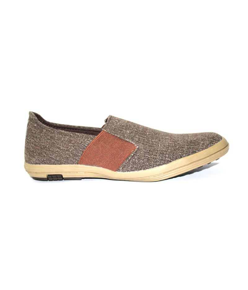Buy Guava Men Slip On Canvas Shoe   Brown online