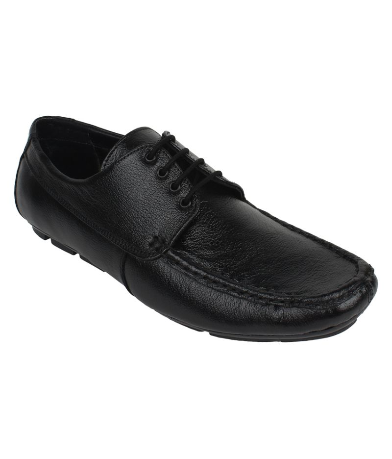 Buy Guava Leather Black Semi-formal Shoes For Men - Product Code (gv15ja209) online