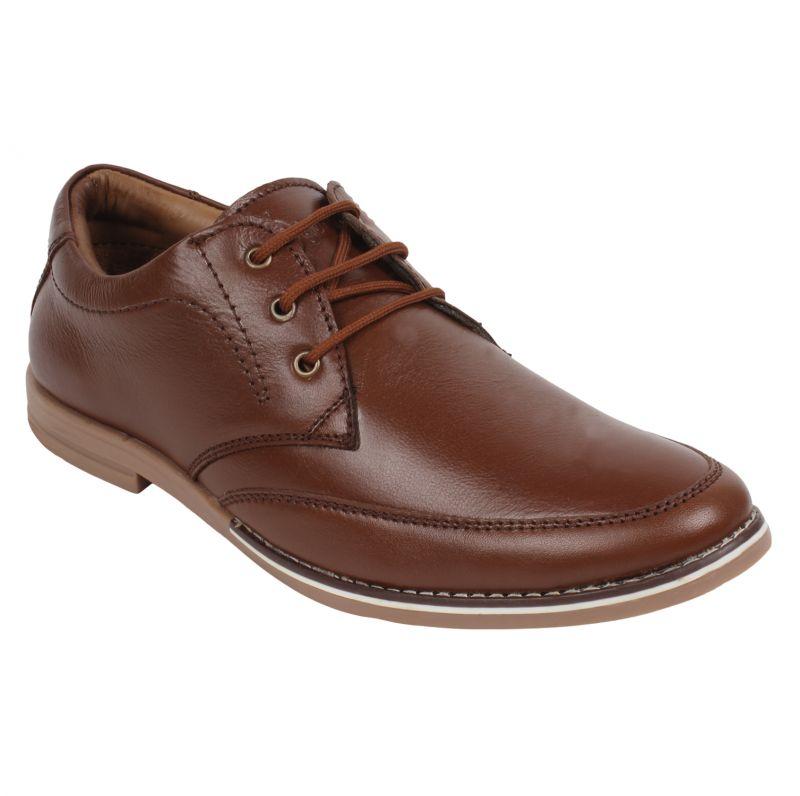 Buy Guava Brown Leather Formal Shoe - Gv15ja258 online