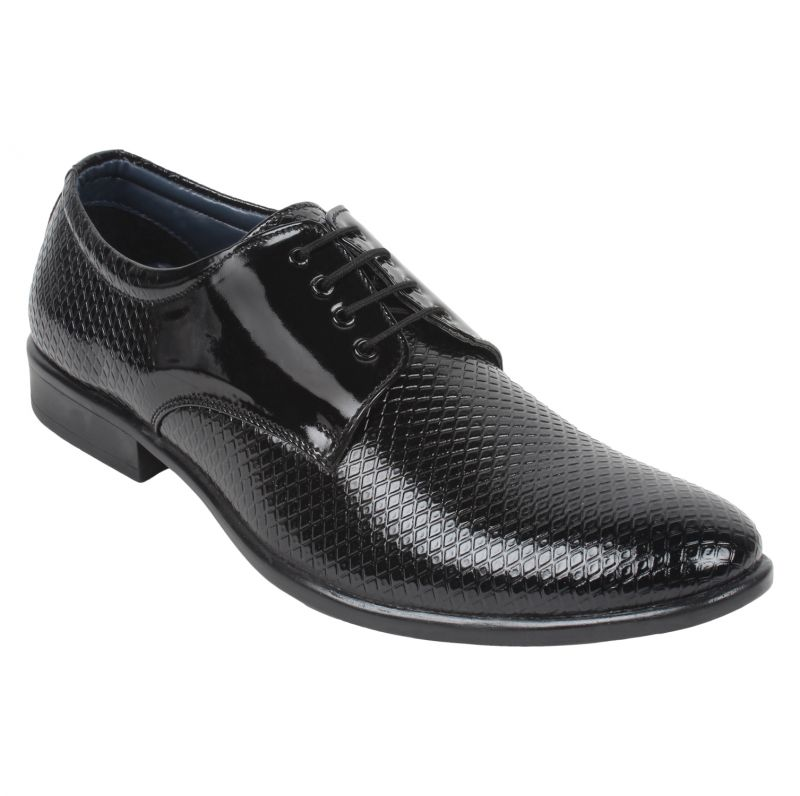 Buy Guava Patent Textured Business Shoes - Gv15ja260 online